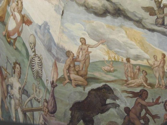 Détail des fresques du Duomo.
