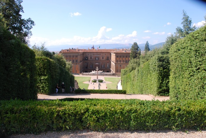 Arrière du Palazzo Pitti depuis les jardins de Boboli.