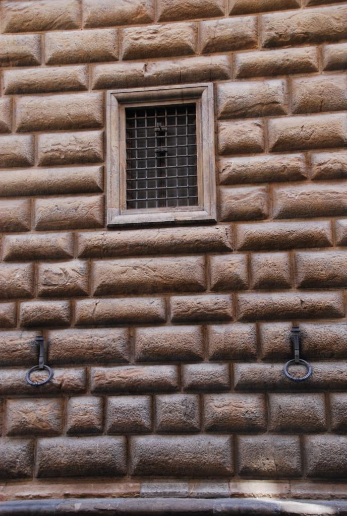 Détail de la façade du Palazzo Strozzi