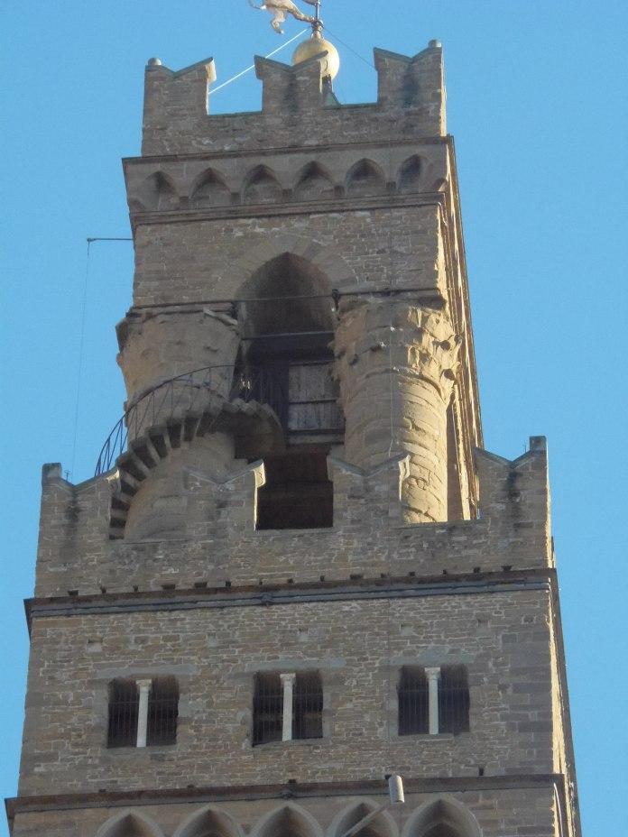 Partie haute de la tour du Palazzo Vecchio.