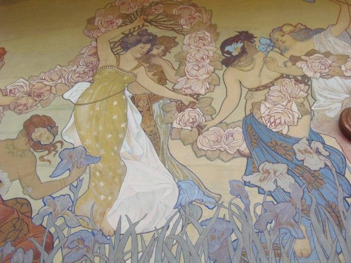 Détail d'une des fresques de la Villa Igiea.