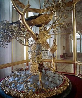L'horloge au Paon, Musée de l'Ermitage, Saint-Pétersbourg, Russie.
