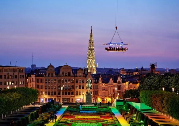 Dîner en prenant de la hauteur à Bruxelles.