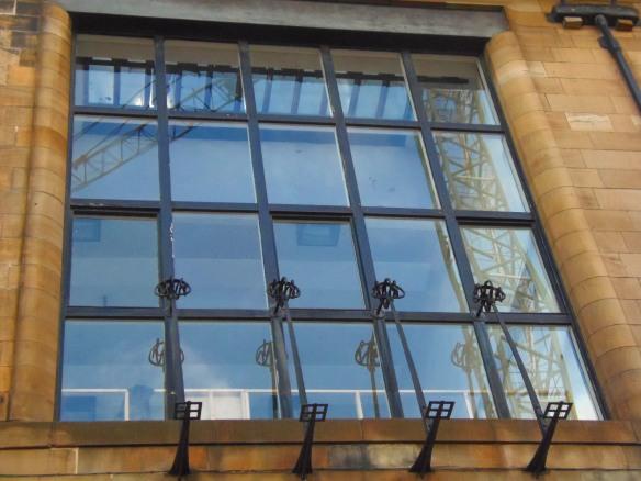 Détail d'une fenêtre de Glasgow School of Art