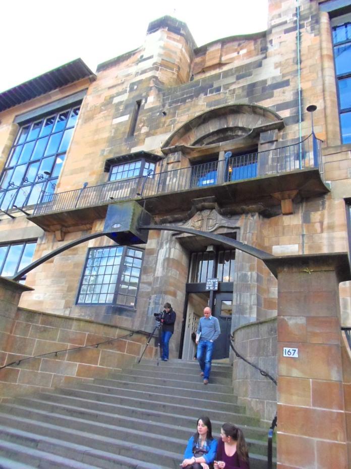 Entrée nord de la Glasgow School of Art