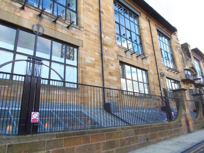 une partie de la façade nord de Glasgow School of Art