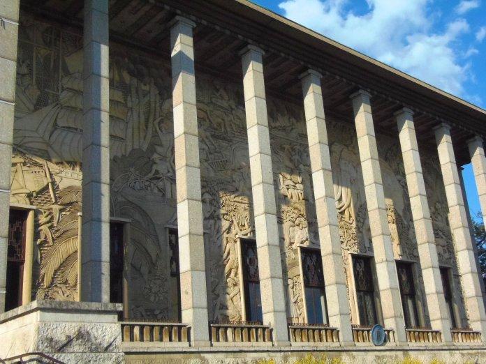 Façade du Palais de la Porte Dorée.