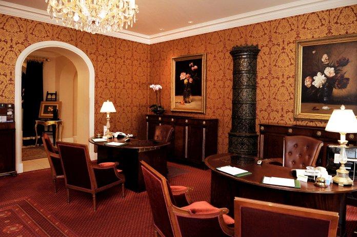 Réception du Grand Palace Hôtel (Riga). Crédit photo Grand Palace Hôtel.
