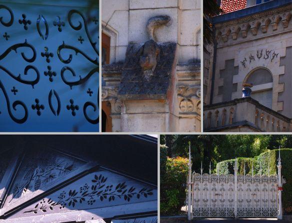 Bois délicatement découpés, écureuil ornant la façade de la Villa Giroflée, portail travaillé ou lettres de feu pour la Villa Faust, les détails ont une grande importance sur les bâtiments de la Ville d'Hiver d'Arcachon.