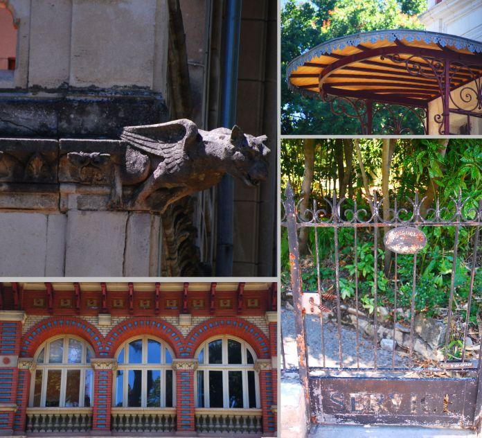 Restez attentifs pour apprécier les intentions des propriétaires et des architectes : gargouille de la Villa Giroflée, arcades de la Villa Alexandre Dumas, fin lambrequin d'une marquise ou modeste porte de service de la Villa Marguerite.