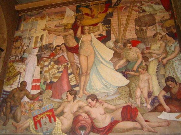 Toutes les richesses de Bordeaux sous le pinceau de Camille de Buzon (Bourse du Travail de Bordeaux).