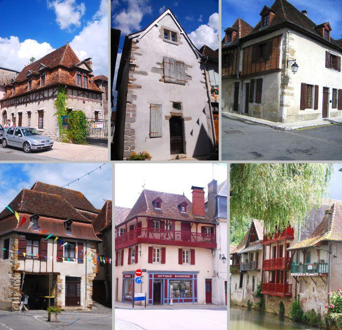 Maison du centre historique de Salies-de-Béarn.