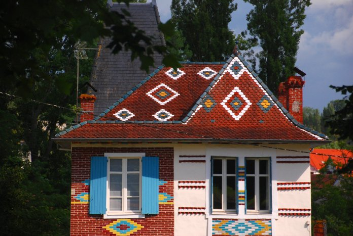 Maison aux mosaïques à Salies-de-Béarn.