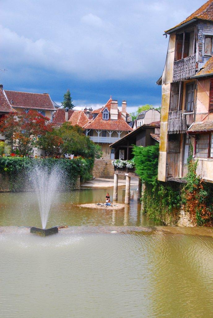 Partie du Saleys qui reste en eau en été (Salies-de-Béarn).
