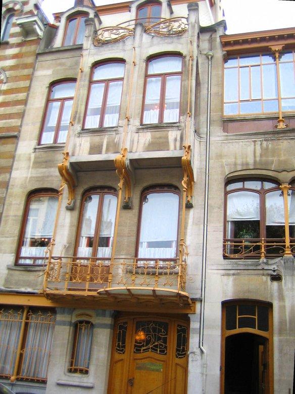 Façade de la maison musée de Victor Horta à Bruxelles.