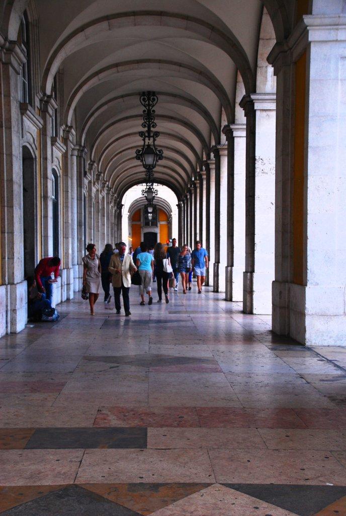 Praça do Comercio, arcades, Lisbonne, Lisboa, Portugal