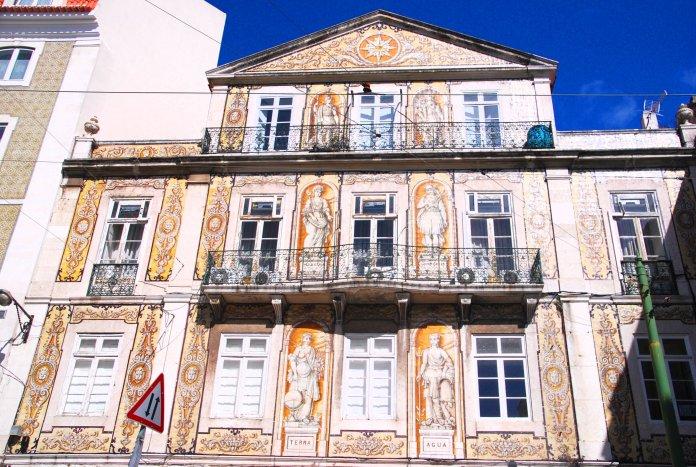 Casa do Ferreira das Tabuletas, azulejos, Lisbonne, Lisboa, Portugal.