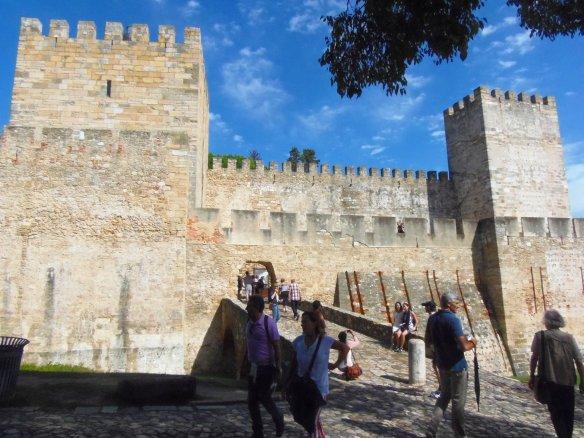 Remparts, château Sao Jorge, Lisbonne, Lisboa, Portugal