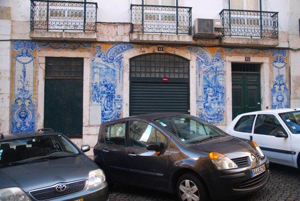 Façade, azulejos, commerce, Lisbonne, Lisboa, Portugal