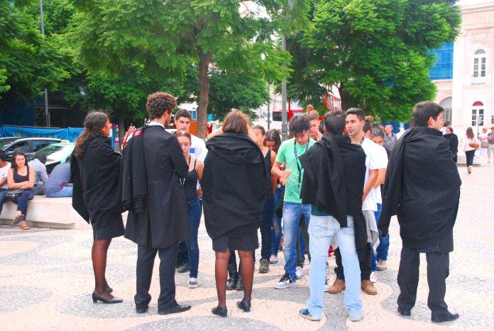 Etudiants université catholique, Lisbonne, Lisboa, Portugal