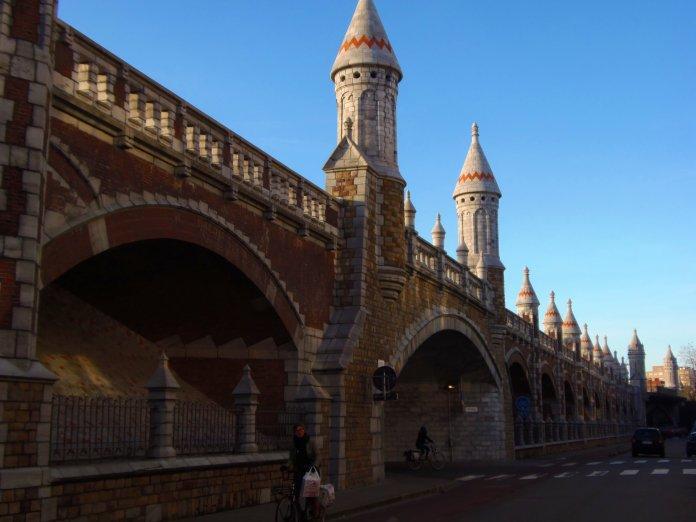 Chemin de fer, Zurenborg, Anvers, Antwerp, Antwerpen, Belgium, Flandres