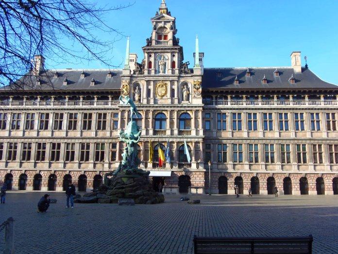 Hôtel de ville, Anvers, Antwerp, Antwerpen, Belgium, Flandres.