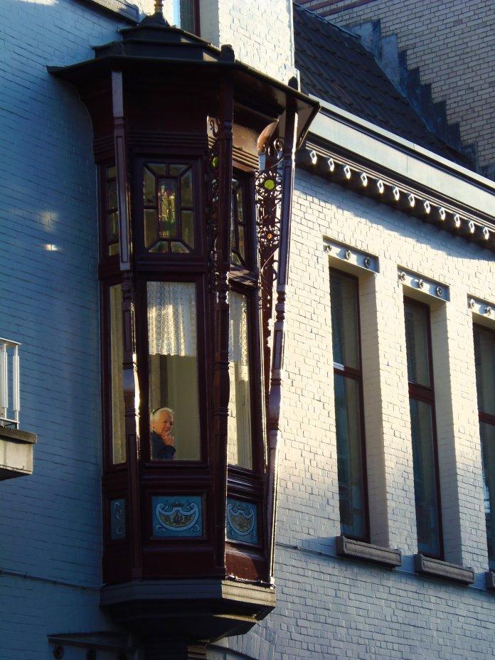 Bow window, Zurenborg, Anvers, Antwerpen, Belgium, Flandres