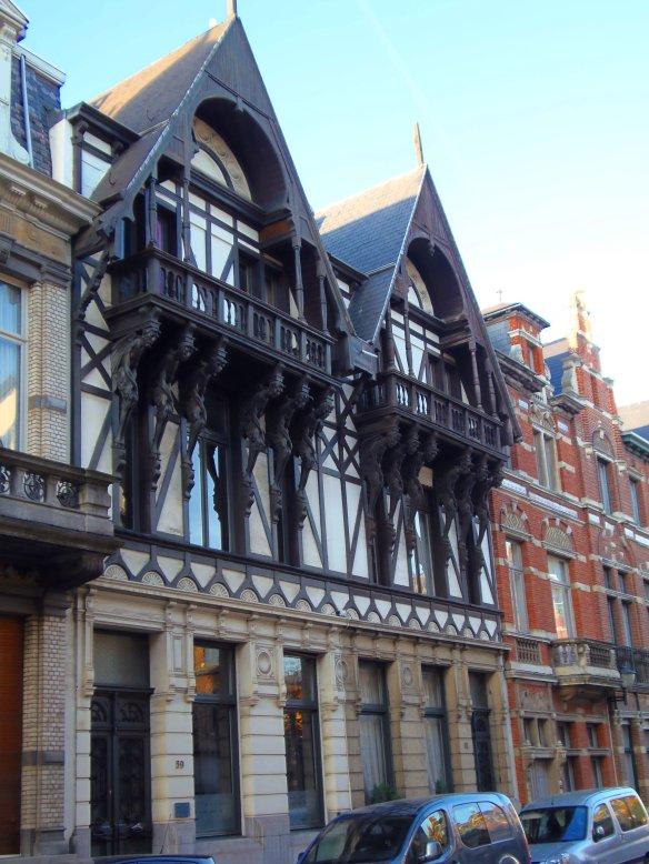 Sculptures, Zurenborg, Anvers, Antwerp, Antwerpen, Belgium, Flandres, Art nouveau