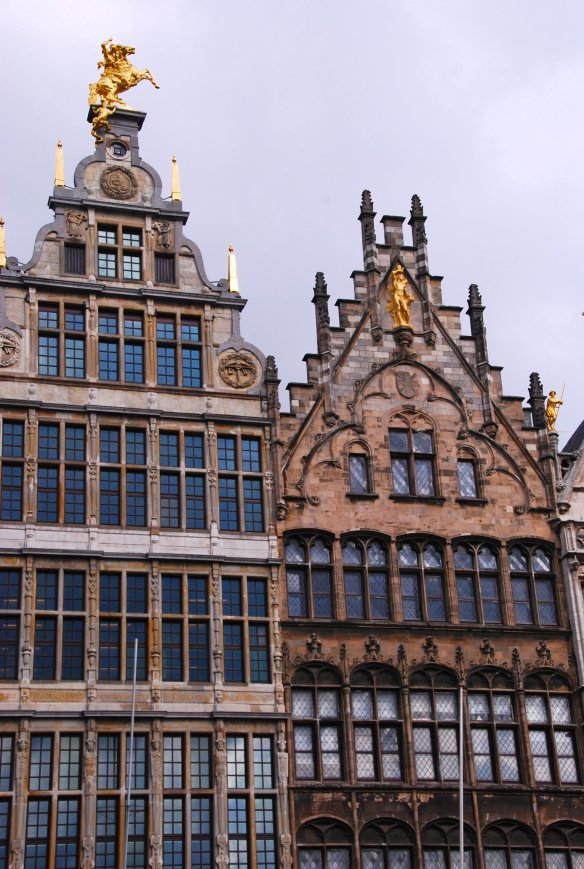 Grand Place doré, Anvers, Antwerp, Antwerpen, Belgium, Flandres