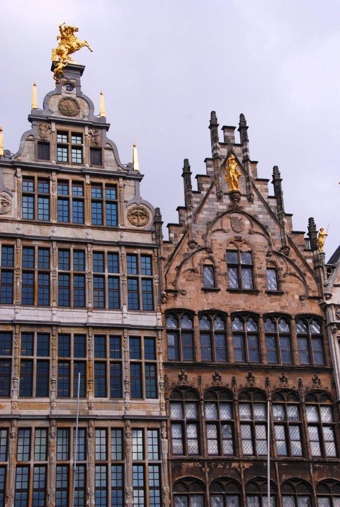 Grand Place doré, Anvers, Antwerp, Antwerpen, Belgium, Flandres