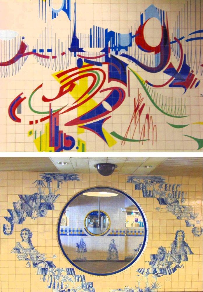 Métro, azulejos, Lisbonne, Lisboa, Portugal