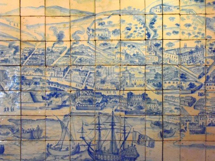 Musée azulejos, fresque, Lisbonne, Lisboa, Portugal