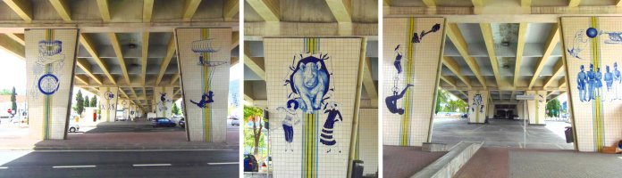 Azulejos, pont, Lisbonne, Lisboa, Portugal