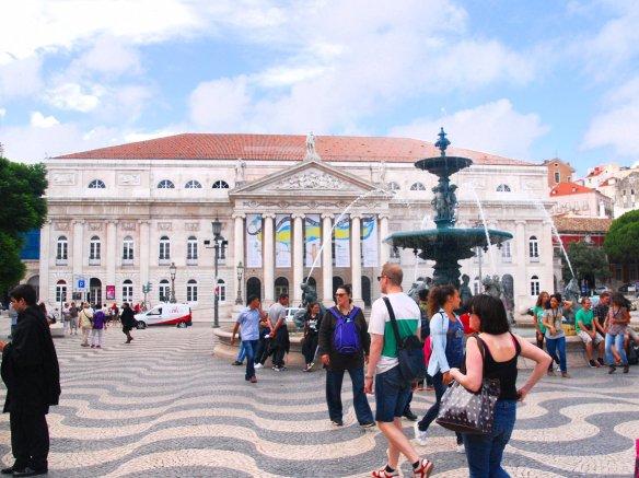 Rossio, rencontre, Lisbonne, Lisboa, Portugal