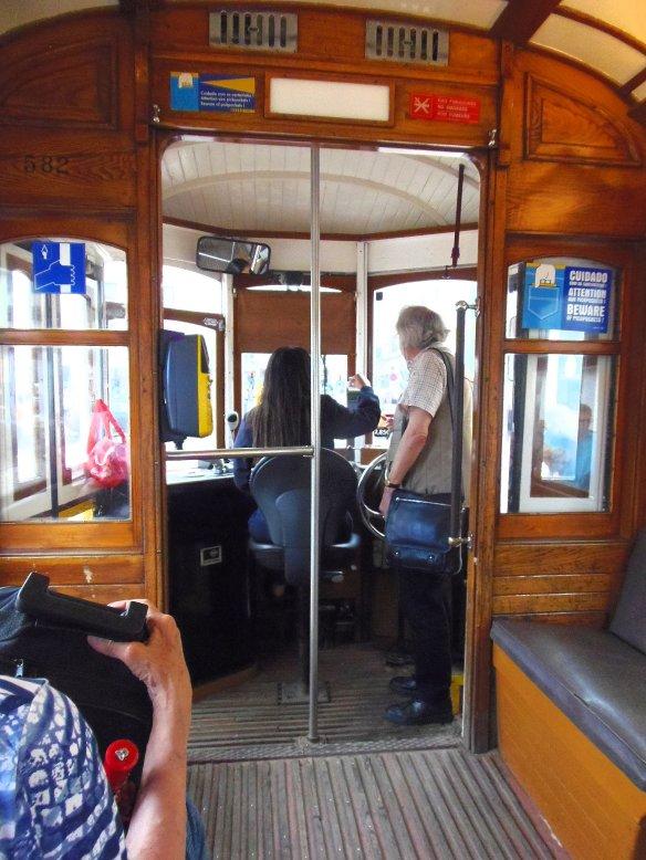 Tramway, château Sao Jorge, Lisbonne, Lisboa, Portugal