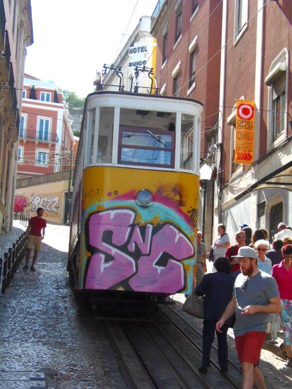 Tramway, tags, Lisbonne, Lisboa, Portugal