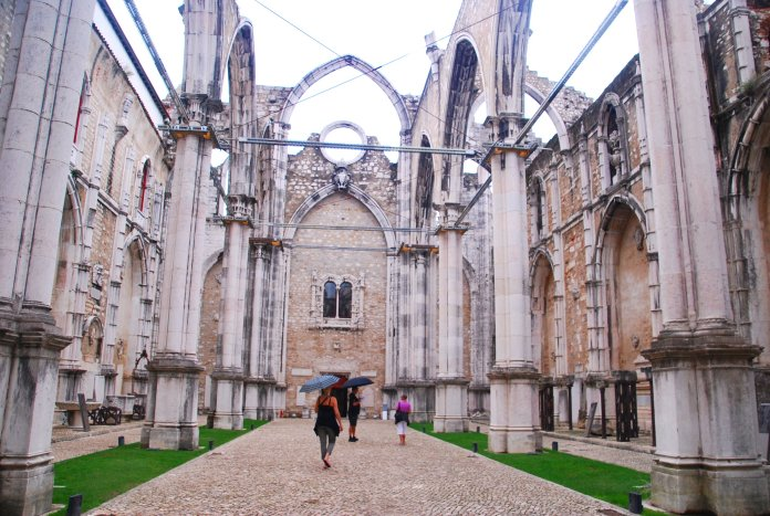 Eglise do Carmo, Lisbonne, Lisboa, Portugal.