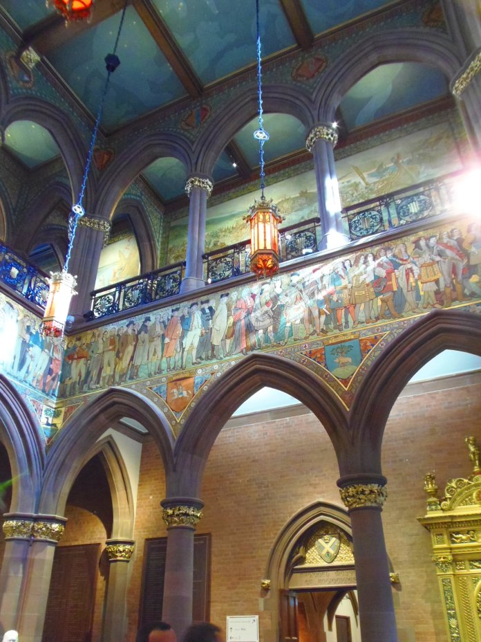 Portrait Gallery fresques Edimbourg Edinburgh