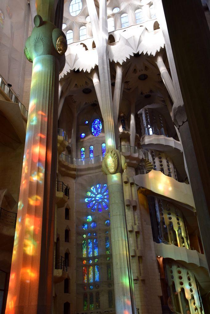 piliers Sagrada Familia Barcelone Barcelona
