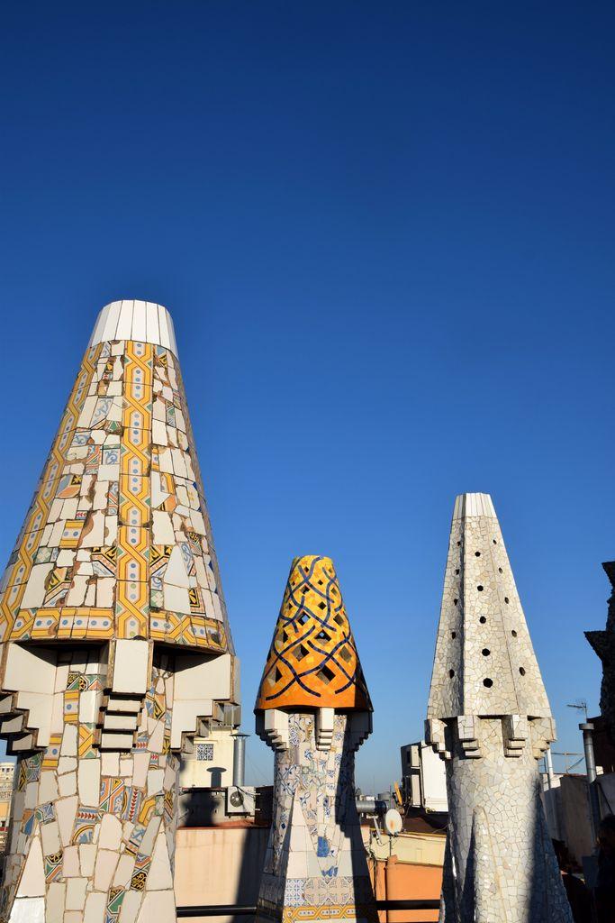 Cheminées Palais Güell Barcelone Barcelona