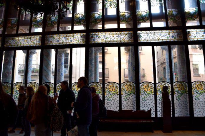 Salon Palais de la musique catalane Barcelone Barcelona