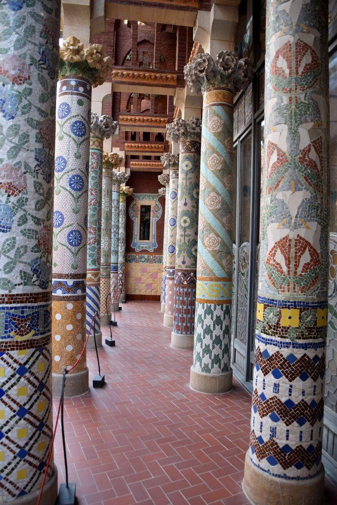 Colonnes Palais de la musique catalane Barcelone Barcelona