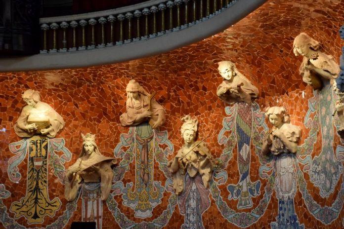 Muses Palais de la musique catalane Barcelone Barcelona