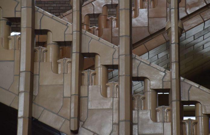 Escaliers Basilique Koekelberg Bruxelles.