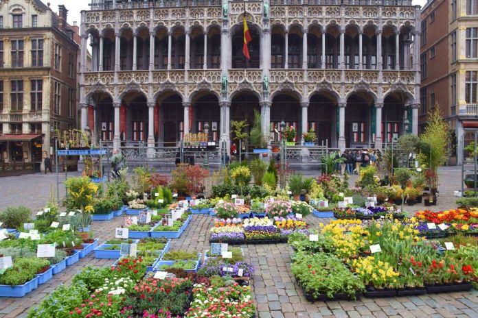 marché aux fleurs grand place Bruxelles Brussels