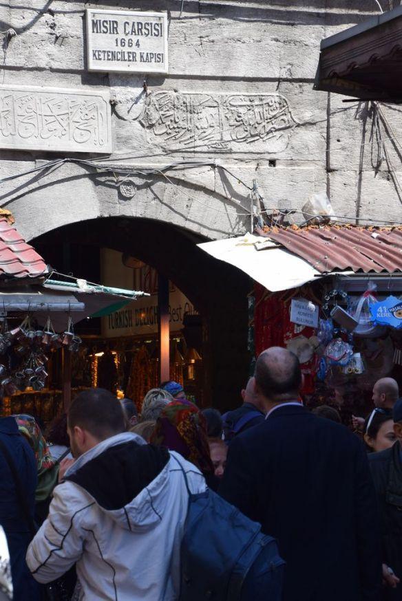 Entrée bazar égyptien Istanbul