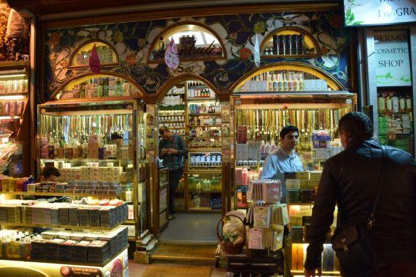 parfumerie bazar égyptien d'Istanbul