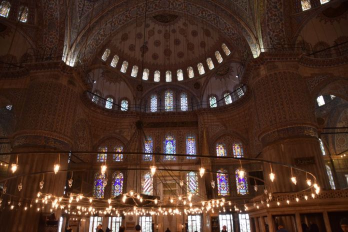 Mosquée bleue istanbul lumière