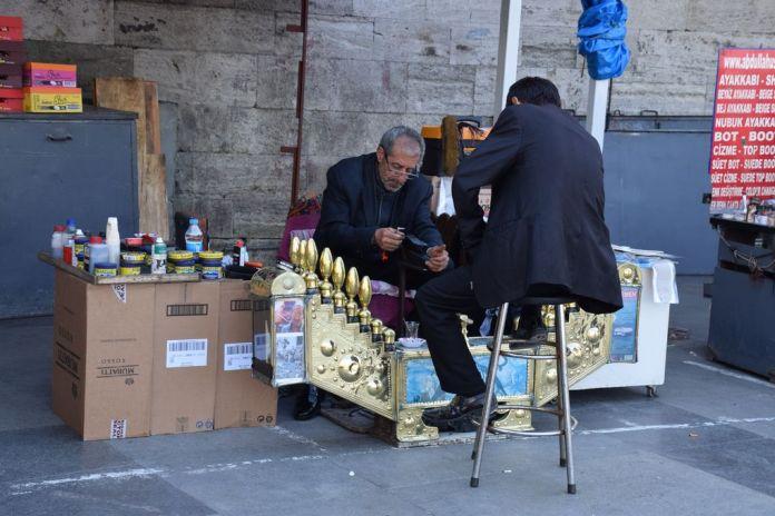 cireur de chaussures Istanbul