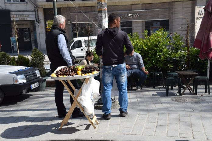 vendeur de marrons Istanbul